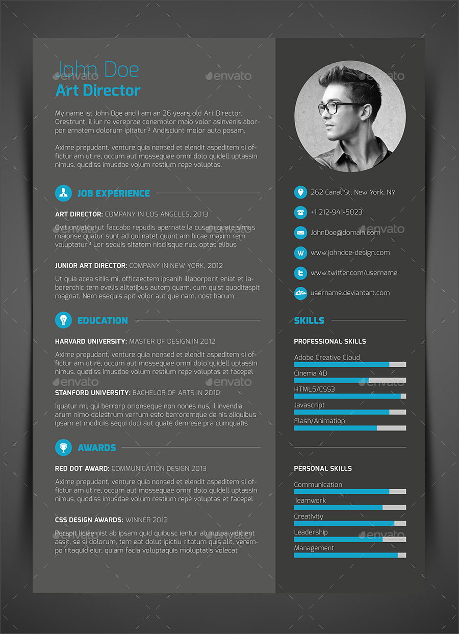 Best ideas about Cv Template on Pinterest Creative cv