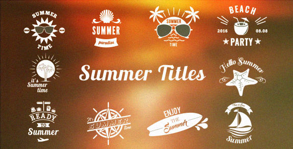 Summer / Holiday Osasto Pack 2 - Holidays osastoille After Effects Project Files
