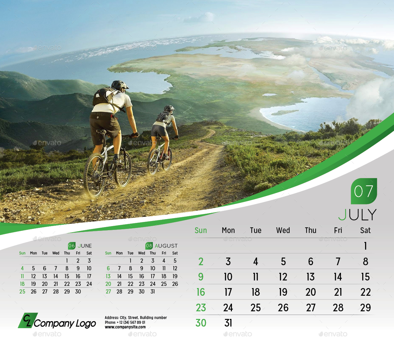 2017 Desk Calendar Template by La_Croix | GraphicRiver