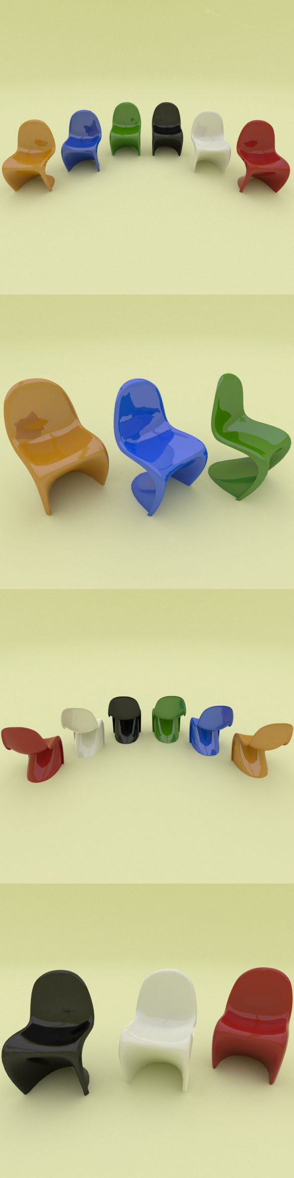 Panton plastic Chair  - 3DOcean Item for Sale