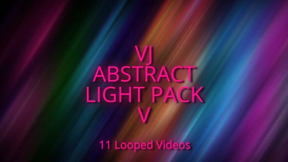 VJ Abstract Light Pack V - Electric Taustat Motion Graphics
