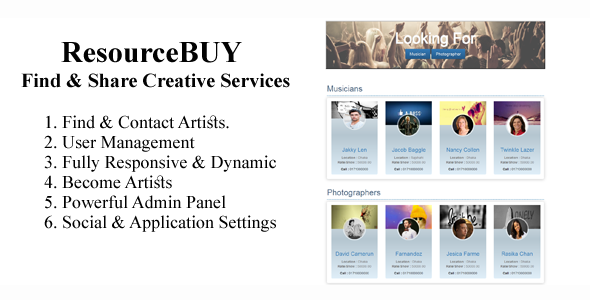 ResourceBuy- Find & Share creative services