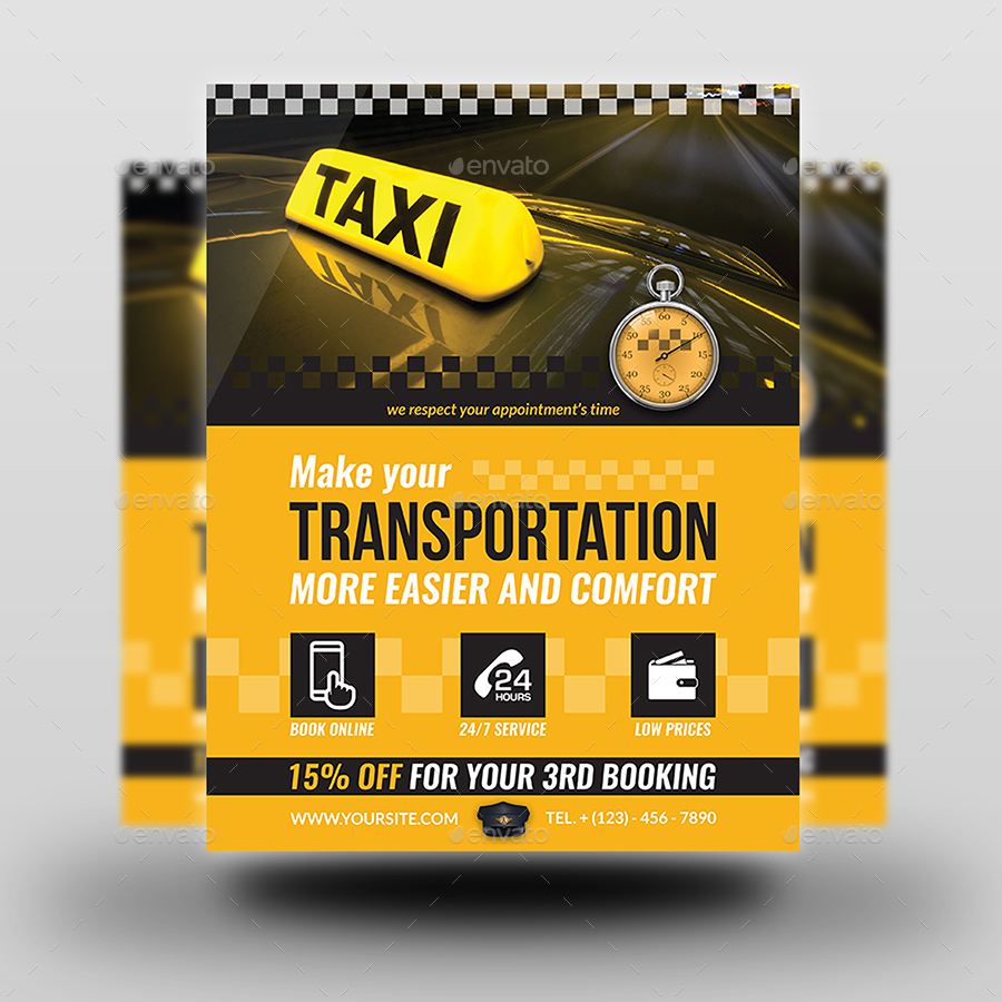 taxi service flyer template by owpictures graphicriver taxi service flyer template