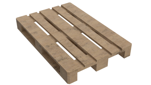 Wooden Euro Pallet Skid (PBR, UV-textured) - 3DOcean Item for Sale