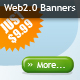 Clean Web 2.0 style banner ads - two sets - GraphicRiver Item for Sale