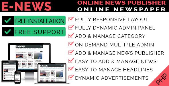 eNews - Online Newspaper & Magazine CMS