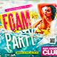 Foam Party Flyer Horizontal