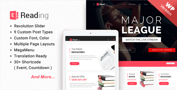 Download E-Reading Book Store WordPress Theme nulled download