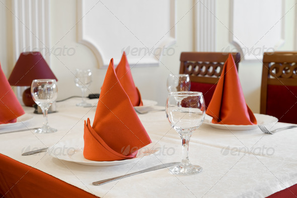 restaurant table - Stock Photo - Images