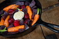 Cast Iron Skillet with raw vegetables - PhotoDune Item for Sale
