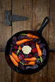 Root Vegetables in a Cast Iron Skillet - PhotoDune Item for Sale