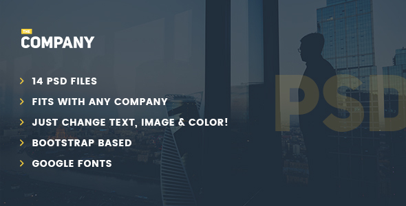 The Company – Multipurpose PSD Template for any company