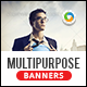 HTML5 Multi Purpose Banners - GWD - 7 Sizes(NF-CC-125)