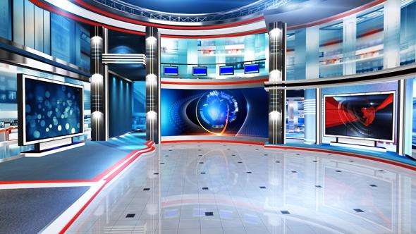 Virtual set B - Technology Taustat Motion Graphics