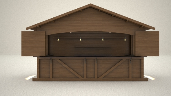 3D Kiosk Hut - 3DOcean Item for Sale