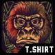 Nerd Monkey T-Shirt Design