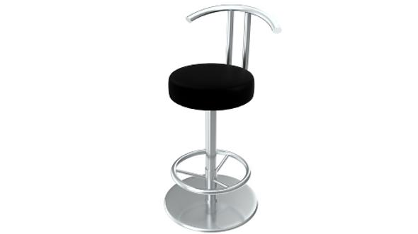 Bar stool (PBR, UV-textured) - 3DOcean Item for Sale
