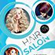 Hair Salon Flyer Template PSD