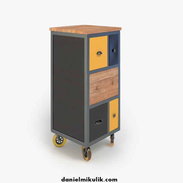 3DOcean Retro Cupboard 16600180