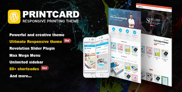 Printshop – WordPress Responsive Printing Theme (eCommerce) images