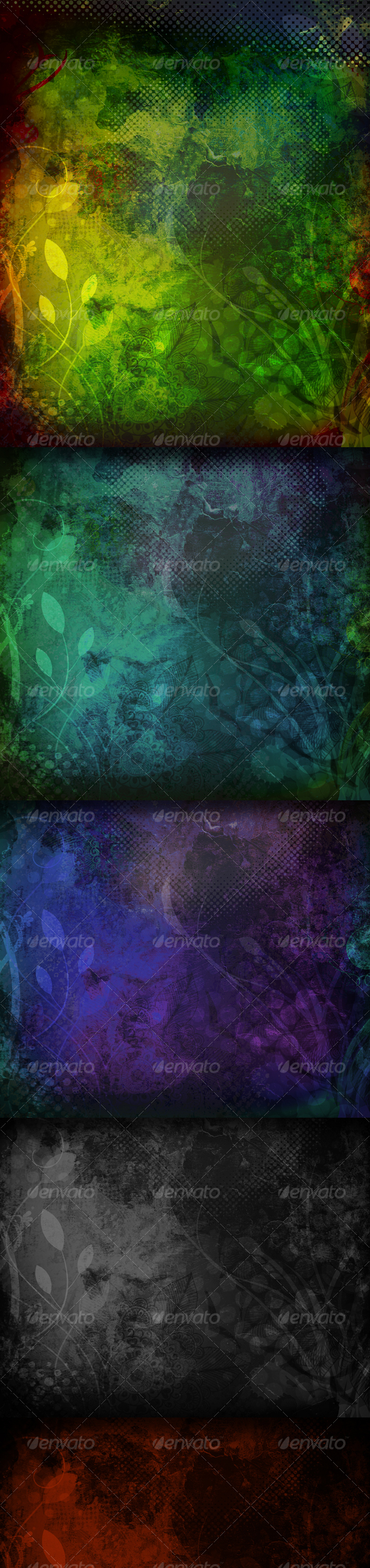 GraphicRiver Grunge Dark Flourish Textures and Backgrounds 64759
