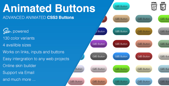Animated CSS3 Buttons - CodeCanyon Item for Sale