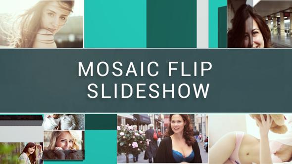 Mosaic Flip kuvaesitys - Special Events Video Näyttää After Effects Project Files