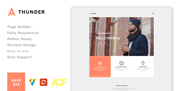 Thunder - Responsive Minimal Agency / Portfolio Theme
