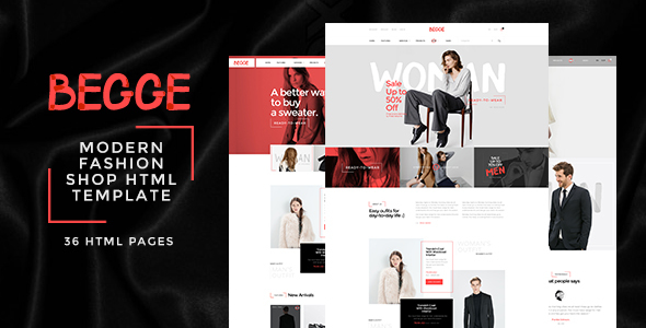 Begge - Modern Fashion Shop HTML Template