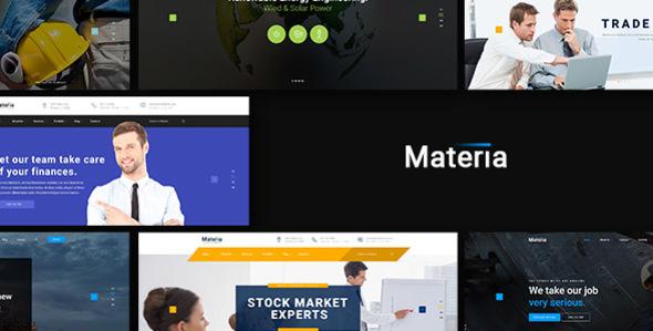 Materia - Consortium PSD Template
