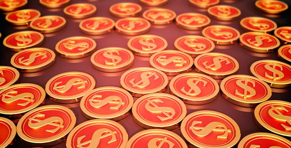 Financial Symbols - 3D, Object Taustat Motion Graphics