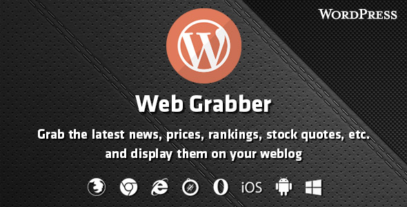 Web Grabber - WordPress HTML Scraping Plugin
