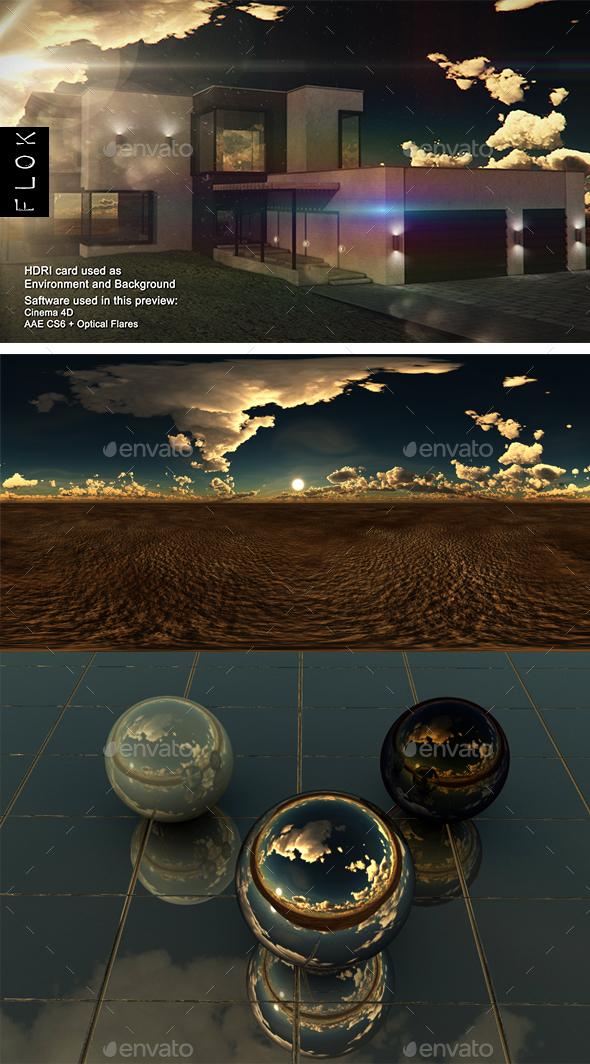 Sunset Desert 54 - 3DOcean Item for Sale