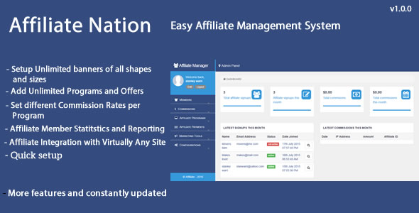 Affiliate Nation - Affiliate Management System
