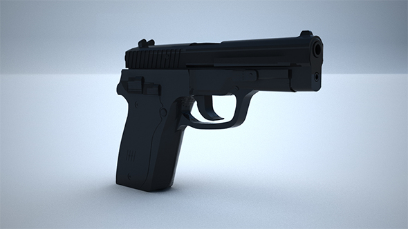 9mm Pistol  - 3DOcean Item for Sale