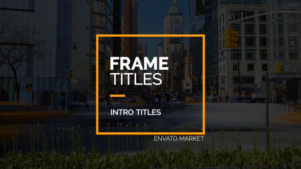 Frame Titles-Videohive中文最全的AE After Effects素材分享平台
