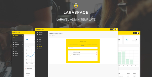 Download Laraspace - Laravel Admin Template