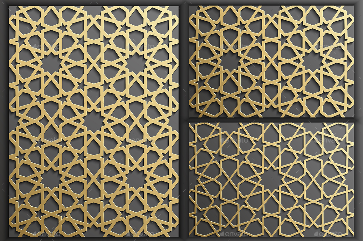 Gold Islamic Seamless Pattern Set 1 by adr7 | GraphicRiver