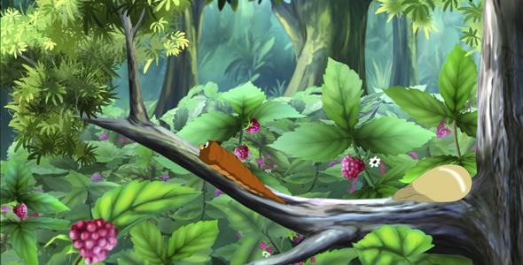 Brown Caterpillar - Taustat Luonnosta Motion Graphics
