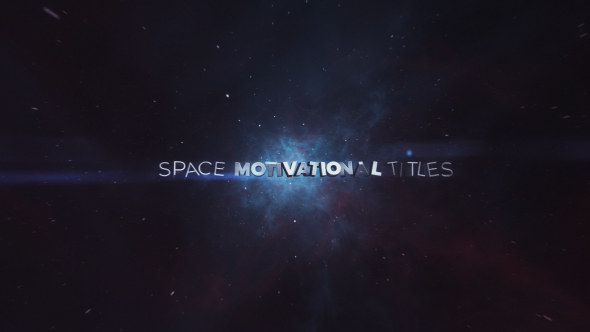 Space Motivaatio osastot - Abstract Tittelit After Effects Project Files