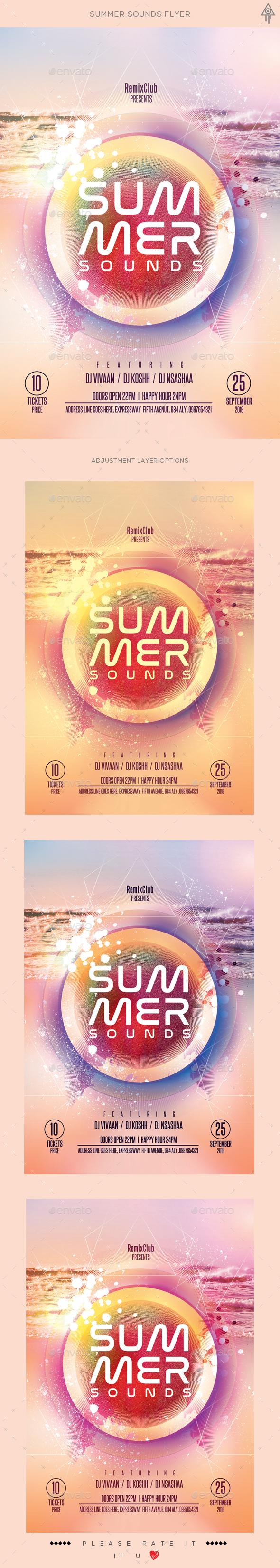 Summer Sounds Flyer