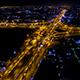 Aerial view above Motorway & Ring Roads