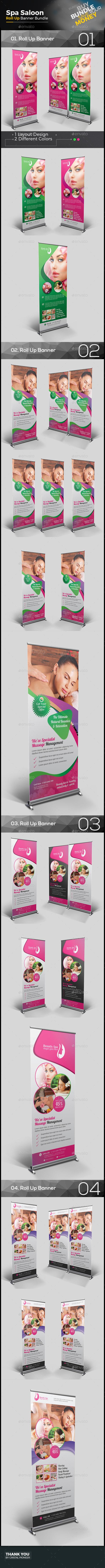 Spa Salon Roll Up Banner Bundle
