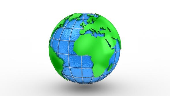 World Map muuttuu Globe - 3D, Object Taustat Motion Graphics