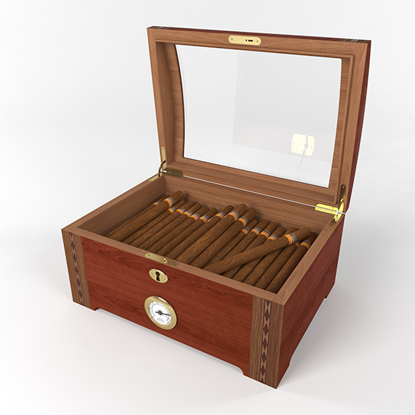 Humidor Santa Fe 100 Deluxe - 3DOcean Item for Sale