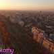 Aerial View Of Bucharest City Center At Dusk 3