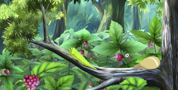 Green Caterpillar - Taustat Luonnosta Motion Graphics