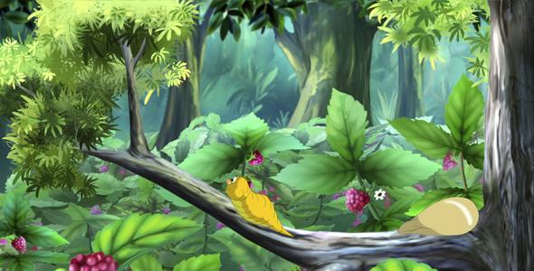 Keltainen Caterpillar - Taustat Luonnosta Motion Graphics