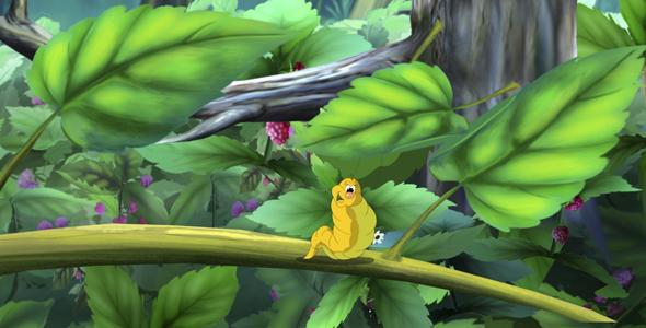 Caterpillar ja Butterfly - Taustat Luonnosta Motion Graphics