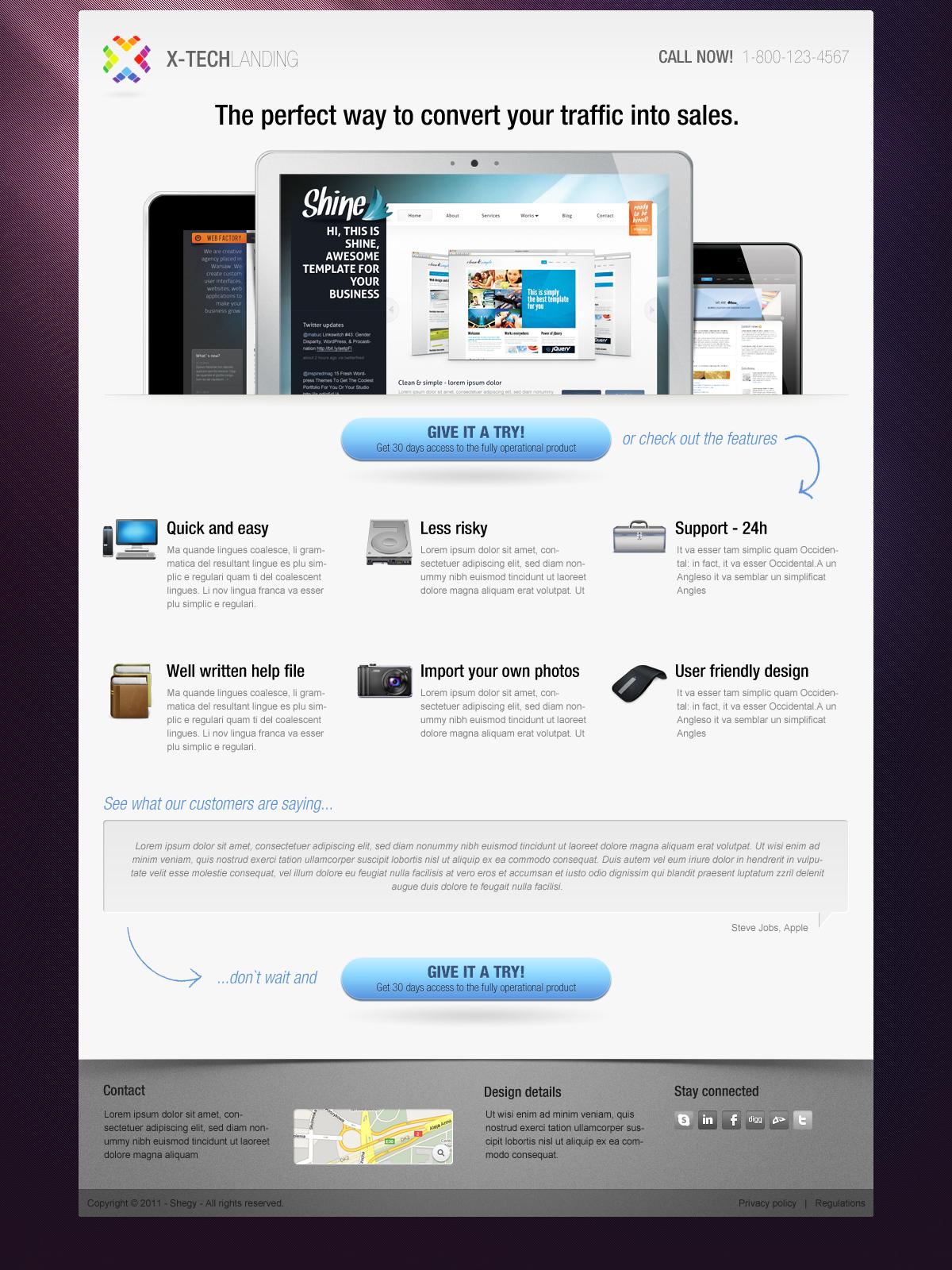 X-Tech Landing Page
